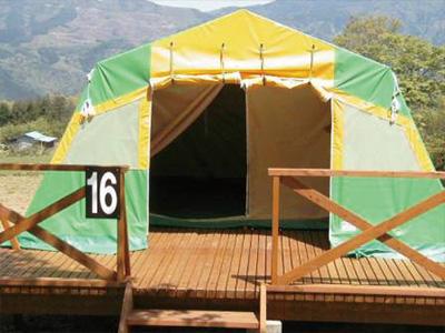 テント外観 二重構造