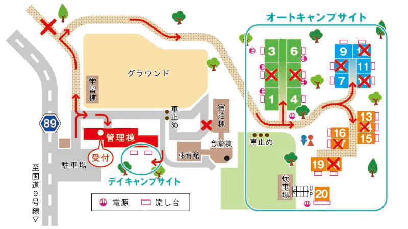 R3オートキャンプサイトマップ